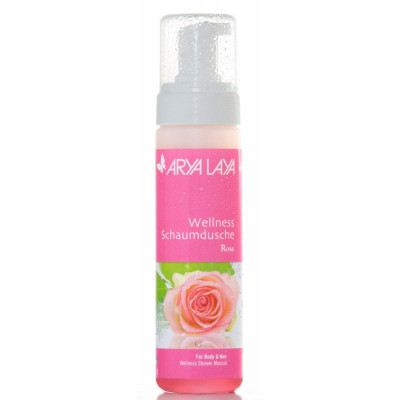 Arya Laya Wellness Schaumdusche Rose, 200 ml Spender