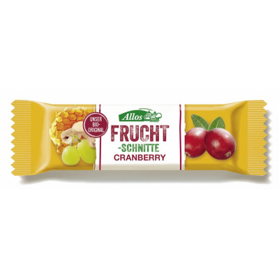Allos Fruchtschnitte Cranberry 30 g Packung