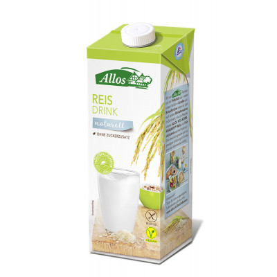 Allos Reis Drink naturell, 1l