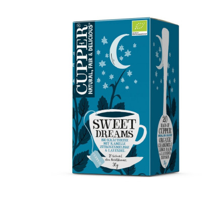 Cupper Sweet Dreams Tee, Filterbeutel, Bio 30 g Packung