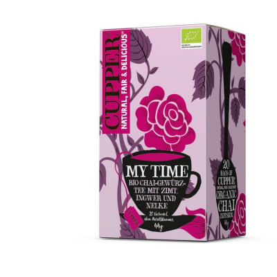Cupper My Time Tee, 44 g Bio Filterbeutel Packung