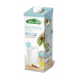 Allos Reis-Kokos Drink naturell, 1l
